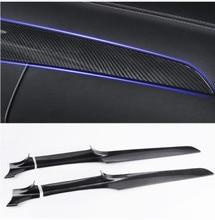 ABS Center Console Dashboard Trim Strips 2pcs For Mercedes Benz C Class W205 180 200 GLC X253 260 2015-18 LHD Carbon Fiber Color