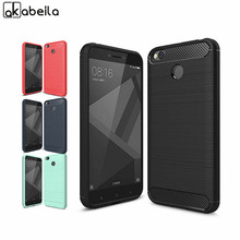AKABEILA Phone Cover Case For Xiaomi Redmi 4X Redmi4X 5.0 inch Cases Cover Carbon Fibre Brushed TPU Shell Fundas  Bag