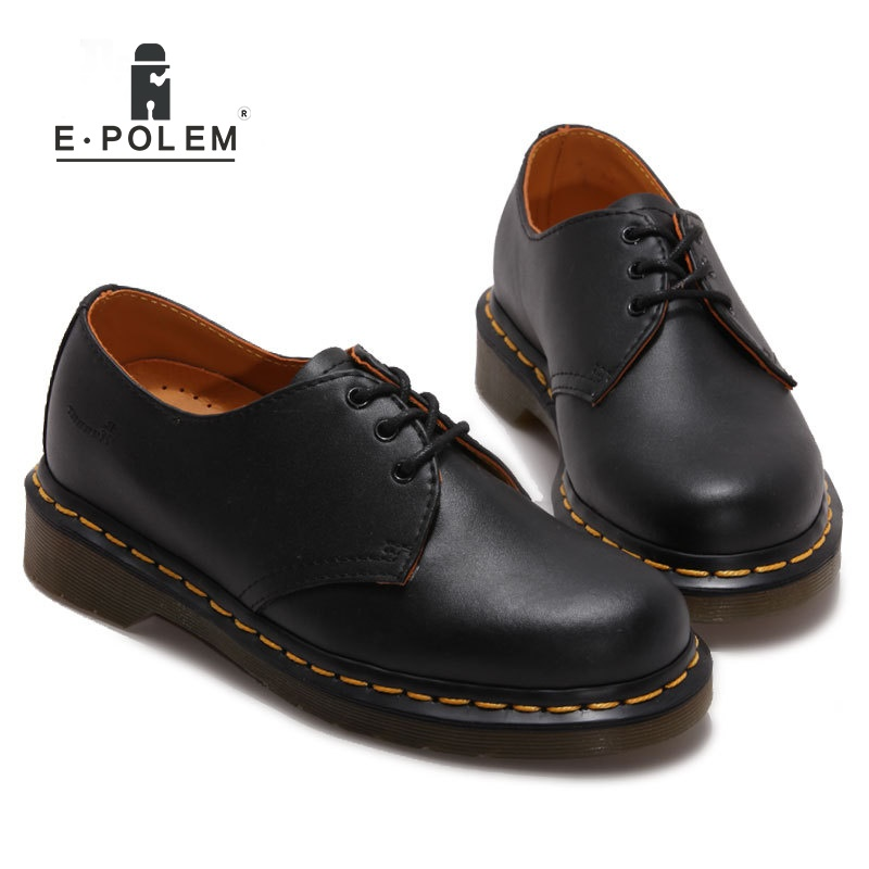Fashion Men's Oxfords Genuine Leather Dress Shoes Lace Up Spring Autumn Unisex Male Casual Martin Shoes genuine leather men shoes spring casual shoes 2016 autumn leather shoes breathable flat shoe lace up outdoor oxfords wholesale