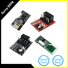 NRF24L01 2.4GHz RF Wireless Transceiver + Socket Adapter Module Plate Board стоимость