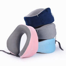 1pc U-shaped Neck Pillow Memory Foam Car travel air plane home Pillow Neck Head Support Office Cushion Comfortable Travel Pillow travel pil gel mf langria u shaped memory foam travel neck pillow with cooling gel technology for airplane car train home office napping reading and leisure