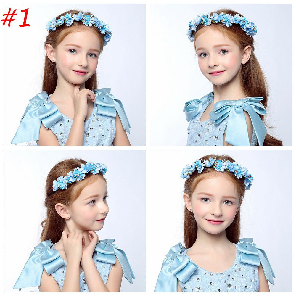 1 PCS Bohemia Flower Floral Hairband Children Girls Crown Headband ...