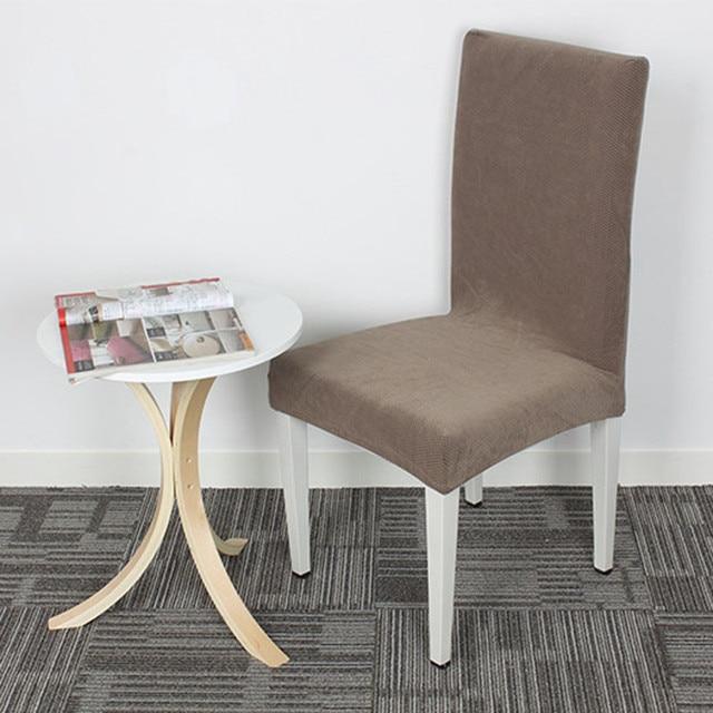 Grau Hohe Qualität Kreuz Zurück Stuhlhussen Küche Sitzbezüge Esszimmer  Dekoration Stretch Stuhl Schonbezug Schutz V20