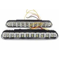 2pcs Set DRL Super White High Power 20 LED Universal Car Light LED Daytime Running With