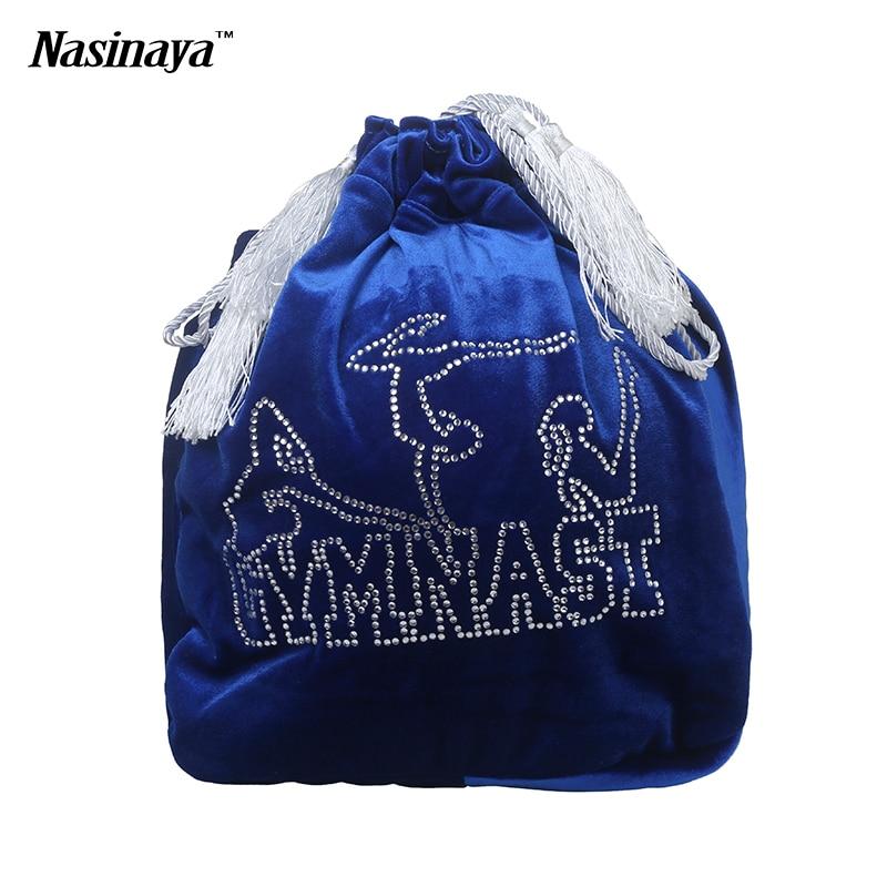 Ritmiskā vingrošana Ball Bag RG Profesionālā aizsardzība Samta auduma aksesuāri Meitene Rhinestone 24 Colors to Select