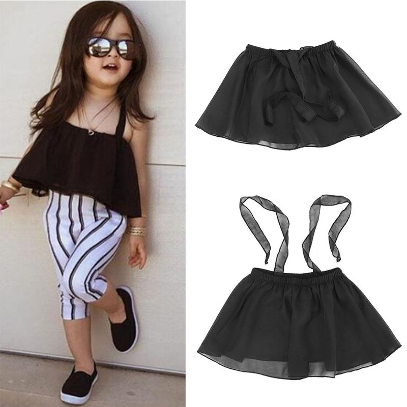 New 1Pc Girls Kids Baby Shoulderless Condole Belt Tutu Party Pageant Skirts Gift