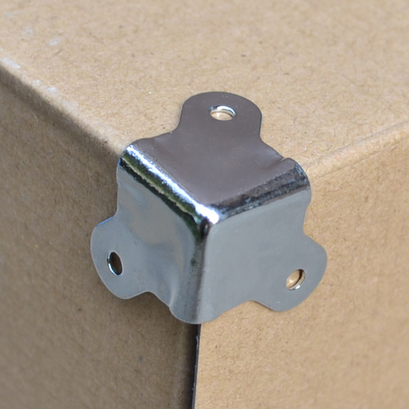 100 pieces metal corner bracket 23 Square corner wood furniture combination box air box corner bag part hardware