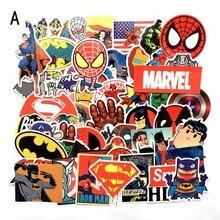 50 шт. супергерой Marvel стикер s Упаковка персонажи фильмов наклейка для самодельный скейтборд мотоцикл багаж ноутбук стикер с рисунком из мультфильма наборы