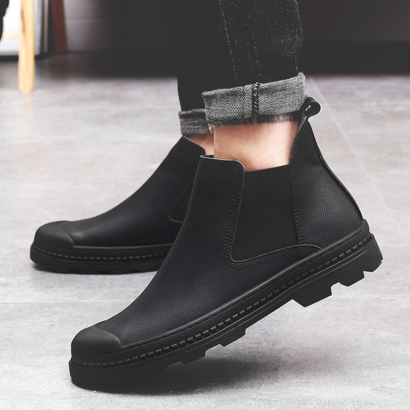 New Arrival Luxury Brand Man Comfortable Shoes Male Genuine Leather Men's Cowboy Western Martin Chelsea Ankle Boots Shoes new arrival man luxury brand cowboy western shoes male designer genuine leather round toe men s cowboy martin ankle boots ke62 page 3
