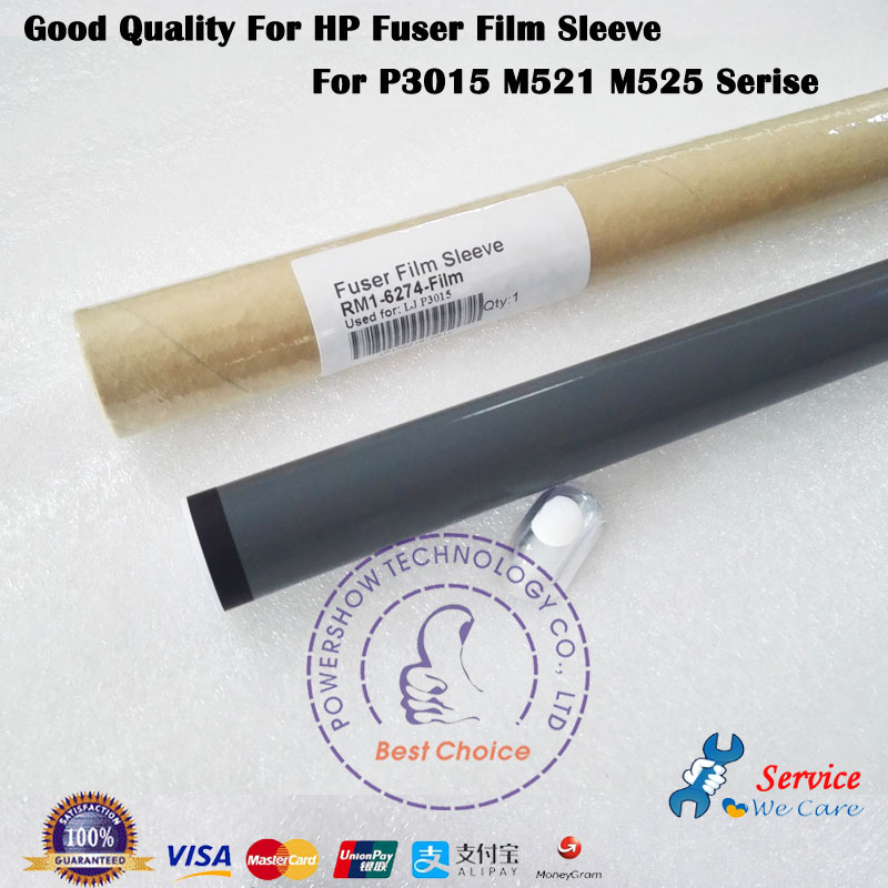5X Grade A Fuser Film Sleeve Teflon Grease RM1 6274 Film For HP P3015 P3015D P3015DX