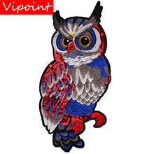 embroidery sequins owl patches for jackets,birds badges for jeans,appliques for backpack A270 embroidery round birds patches for jackets fish badges for jeans appliques a133