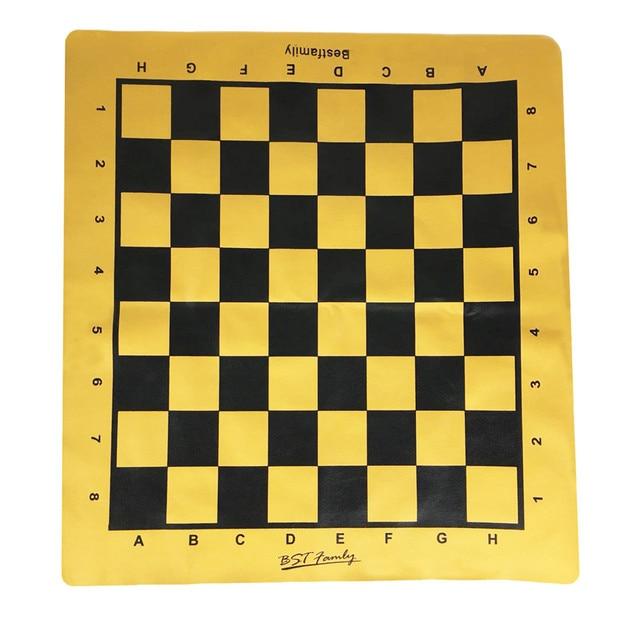 Ensemble de pièces en cuir PU, plateau d'échiquier pliable de 46x50cm ou Shogi, plateau d'échecs IB4 de 45x50mm 3