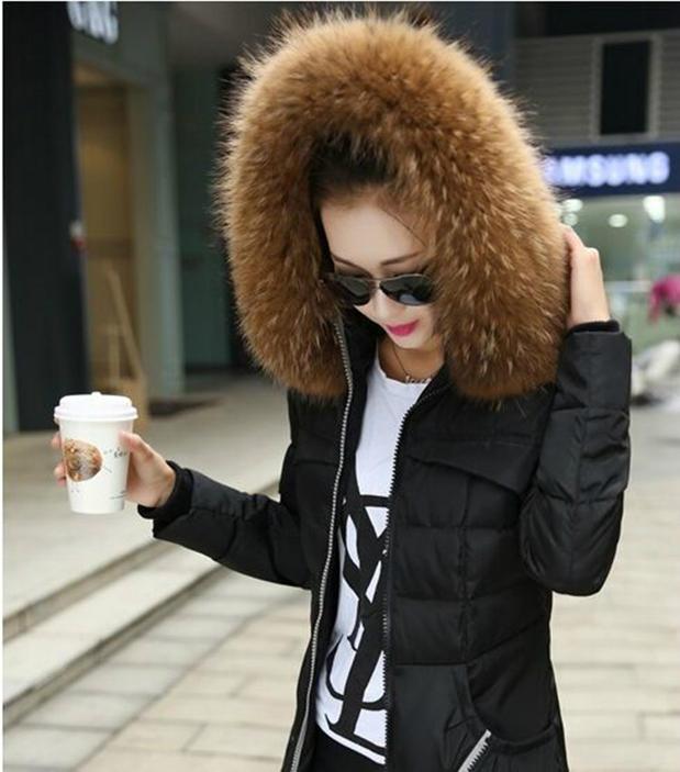 Aliexpress.com : Buy Real raccoon fur collar down coat hood ...
