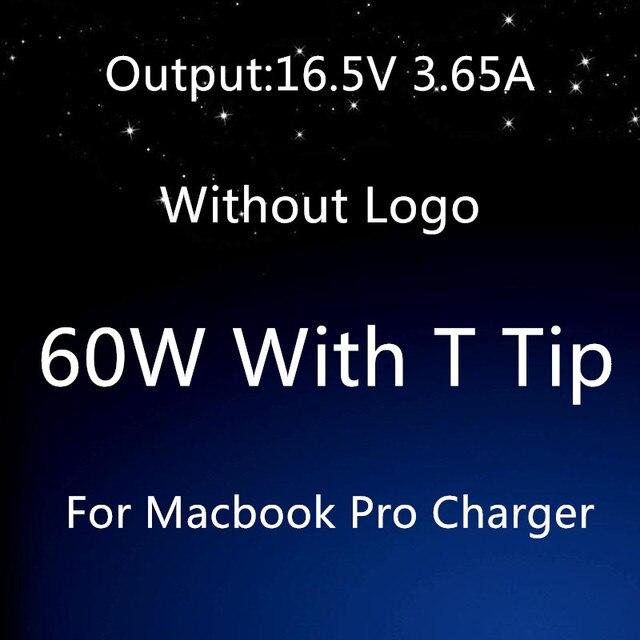 """Хорошее Качество Для apple magsafe 2 60 Вт 16.5 В 3.65A Т наконечник ноутбук адаптер питания зарядное устройство Для Macbook pro 13 """"A1435 A1465 A1425 A1502"""