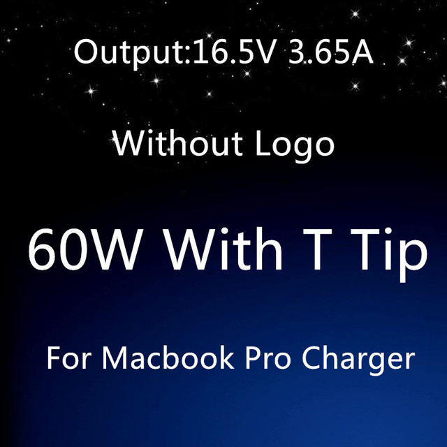 "Good Quality For apple magsafe 2 60W 16.5V 3.65A T tip laptop power adapter charger For Macbook pro 13"" A1435 A1465 A1425 A1502"