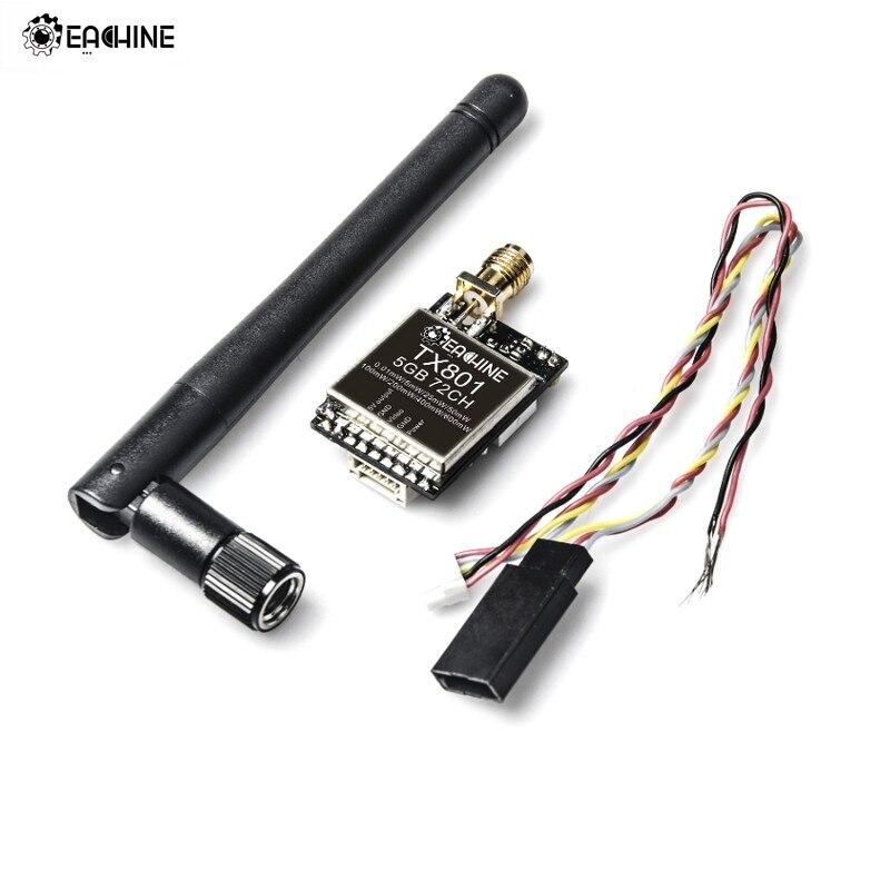 Eachine TX801 5.8g 72CH 0.01 mw 5 mw 25 mw 50 mw 100 mw 200 mw 400 mw 600 commutazione mw AV VTX Trasmettitore FPV