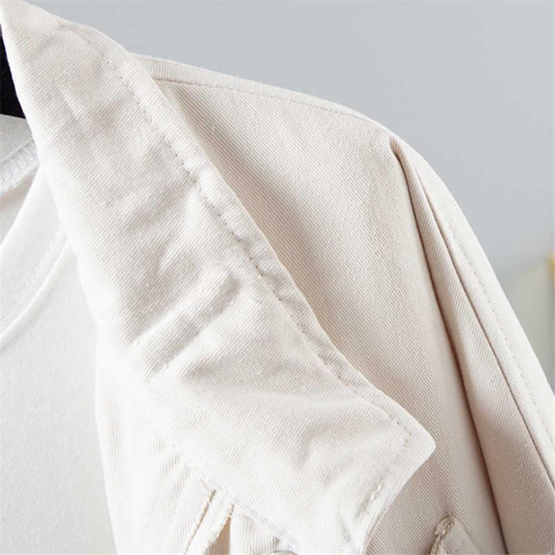 原宿ショートウインドブレーカー女性ルース長袖コートとジャケット春秋の韓国学生レディースアウターウェアボンバージャケット