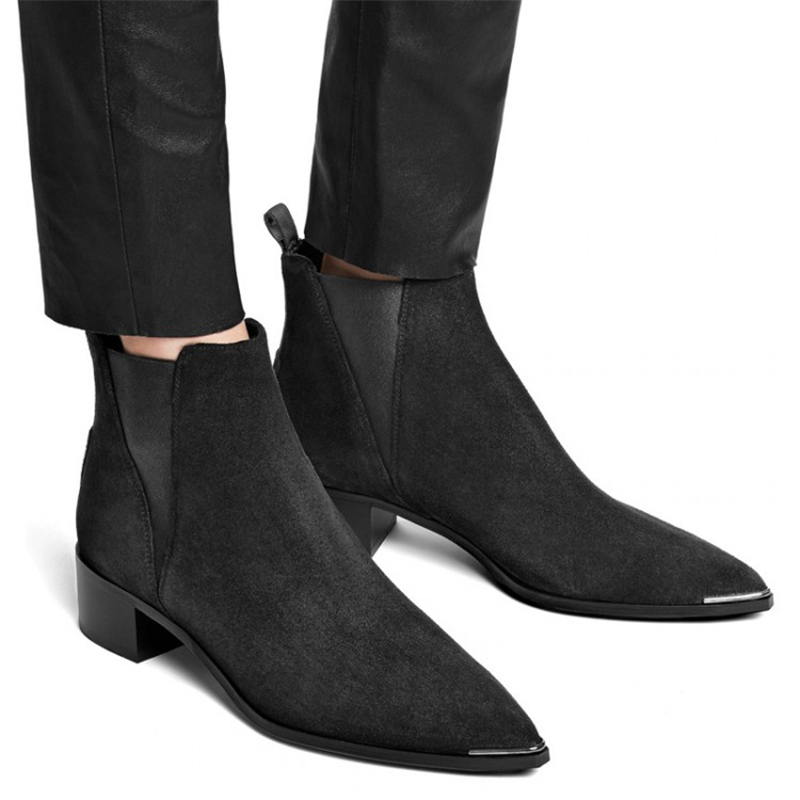 Popular Black Ankle Boots-Buy Cheap Black Ankle Boots lots from ...