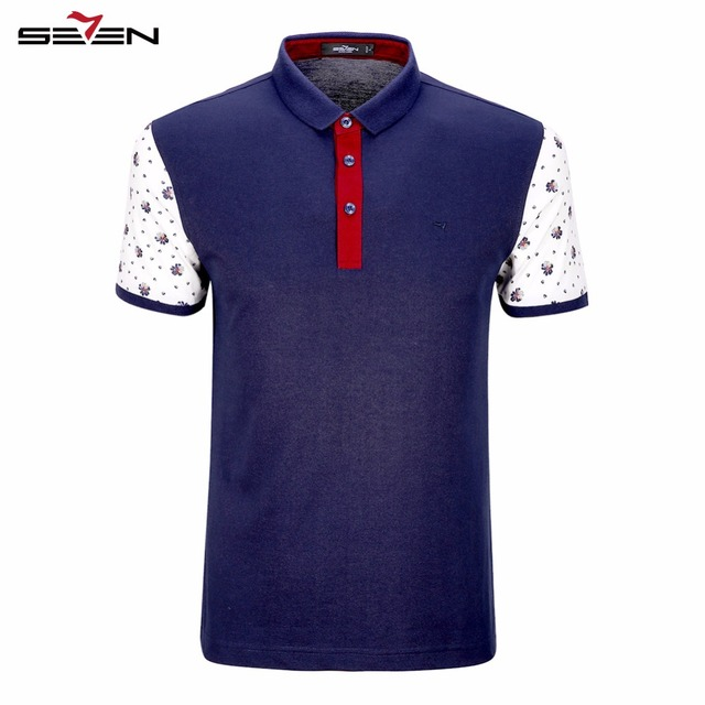Seven7 Brand Fashion Men Polo Shirt Short Sleeve Fitness Polos Turn-Down Men Top Clothing Summer Breathable  Polos 110T58180