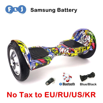 FLJ 10inch Hoverbaord Samsung battery Electric self balancing Scooter for Adult Kids skateboard 10 wheels 700w Hoverboard UL2272 caterham 7 csr