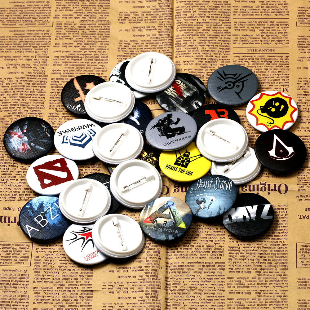 30 Type Game Brooches The Elder Scrolls V Dishonored 2 Dead Space Serious Sam ABZU Rocket League Badge Pins For Bag Jewelry image