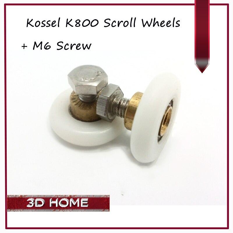 10 Unidades Más Nuevo Delta Impresora 3D Kossel K800 Accesorios Partes Pequeños
