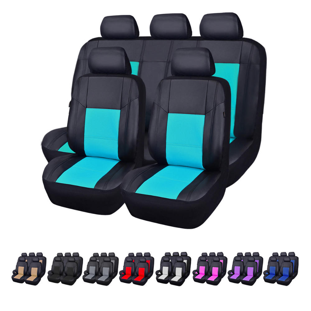 Car pass Universal Leather Car Seat Cover For Camry 2005 Waterproof Accessories