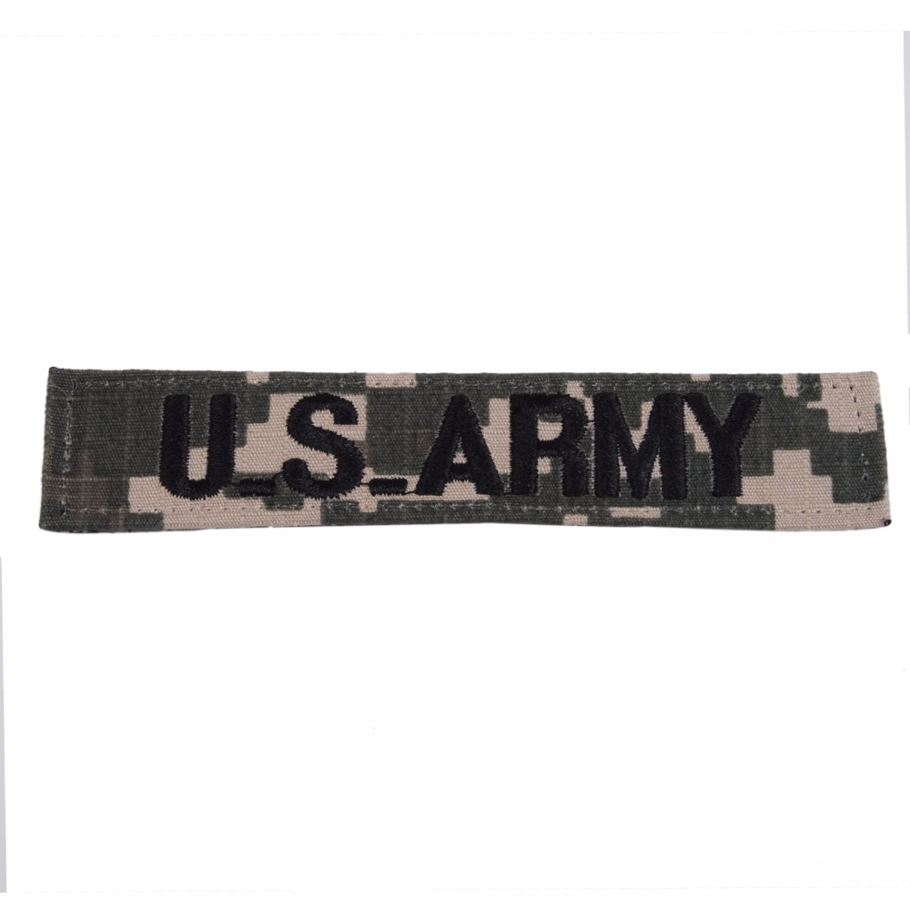 US ARMY DIGITAL ACU TAPE EMBROIDERY CHEST PATCH