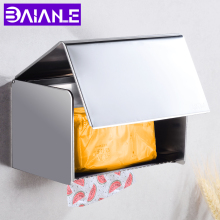 Toilet Paper Holder with Shelf Waterproof Stainless Steel Paper Towel Holders Wall Mounted Bathroom Tissue Roll Paper Holder Box bathroom wall mounted stainless steel adhesive toilet paper holders toilet paper holders rack holder bathroom towel holder paper