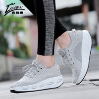 Hot Slimming Fitness Lady Swing Shoes Women Casual Shoes Platform Wedges Shoes Female Spring Autumn Chaussure