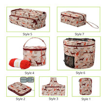 Empty Yarn Storage Bag Crochet Bag With Crochet Hook Knitting Needle Bag DIY Needle Art Craft Sewing Tools Accessories For Women mesh knitting needle storage bag hollow yarn crochet knit bag diy craft organizer for thread storage sewing accessories bags