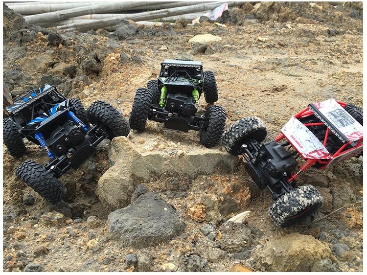 RC Auto 4WD 2.4 GHz Roccia Crawlers Rally arrampicata Auto 4x4 Motori A Doppia Auto Bigfoot Modello di Controllo Remoto Off-Road Del Veicolo Giocattolo