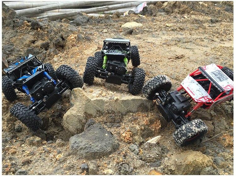 Rastreadores de Rock RC 4WD Coche 2.4 GHz de escalada de Coches de Rally 4x4 Mot