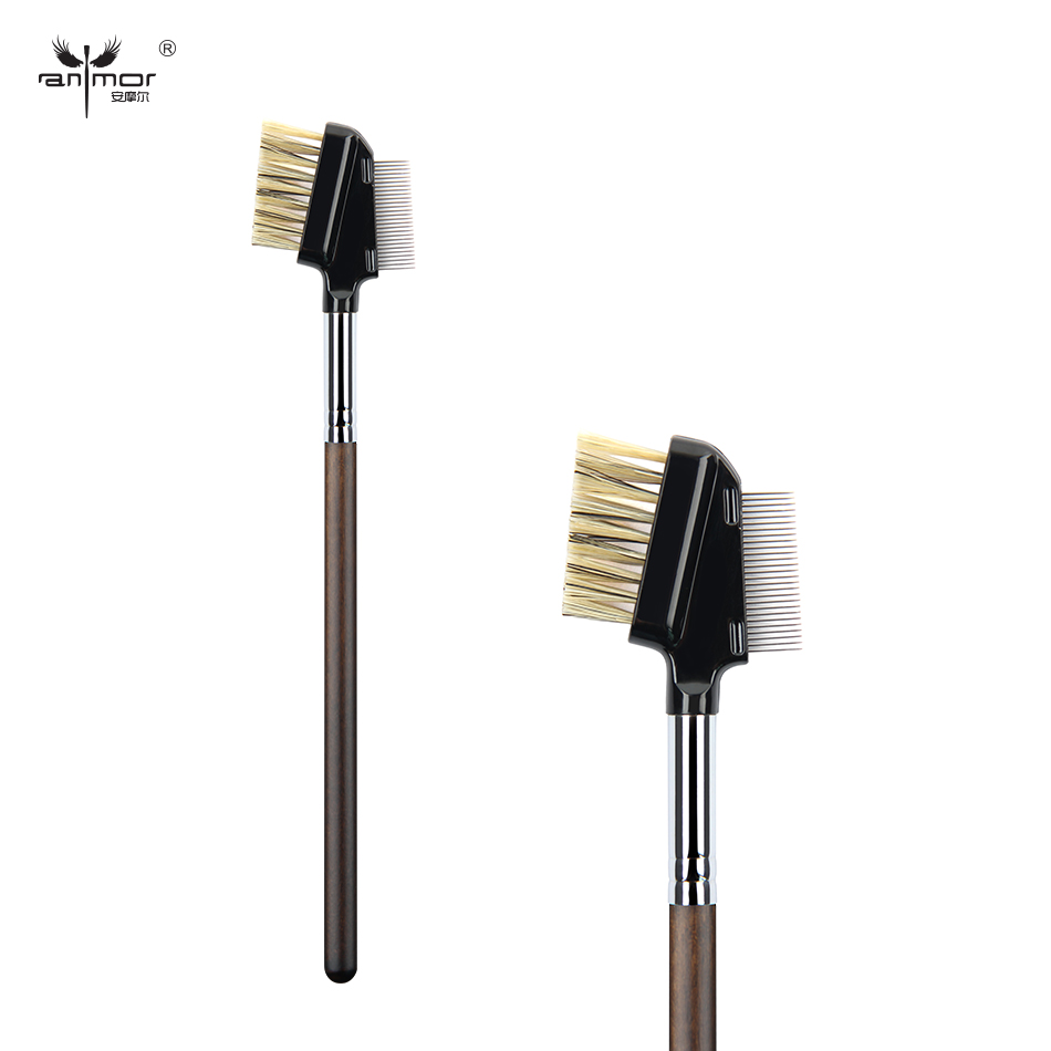 Anmor Brand Stålnål Ögonfransborste Professional Makeup Brushes Syntetisk Make Up Brush D019