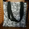 YILE White Cotton Canvas Fabric Shoulder Bag ECO Shopping Tote Print I Thought WJ12