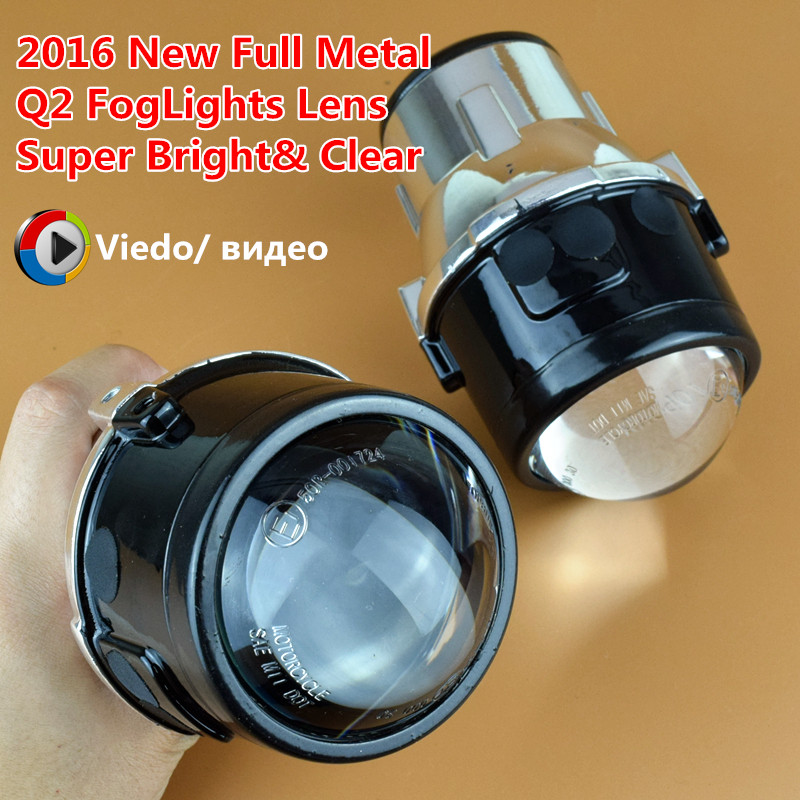 SINOLYN Metal Universal Fog lights Projector Lens Driving Lamps Front Bumper Aftermarket Retrofit Lighting For Car Motorcycle
