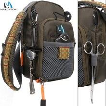 최대 캐치 플라이 낚시 가방 낚시 가슴 팩 낚시 도구 액세서리와 낚시 배낭