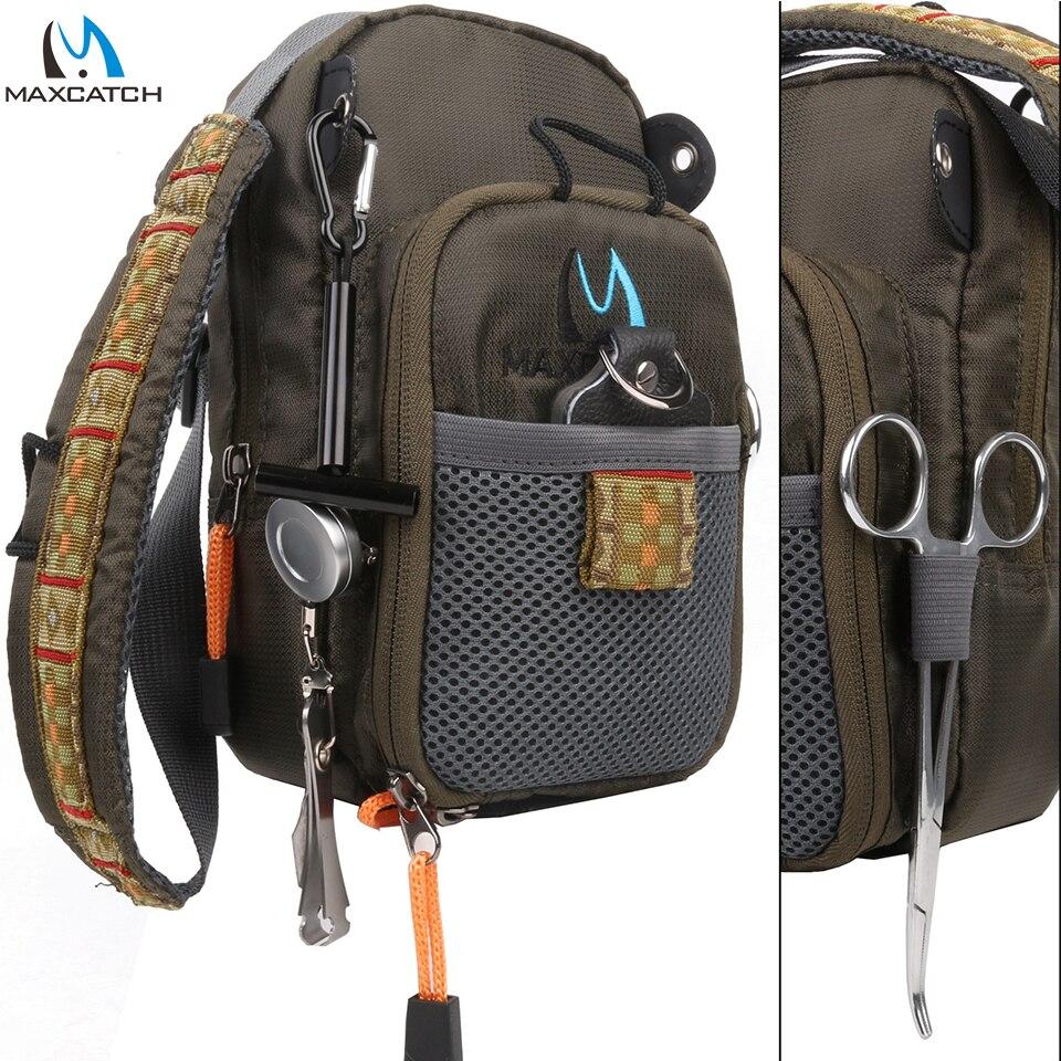 Maximumcatch Fly Angeltasche Brust Pack Fishing Rucksack Mit Zubehör