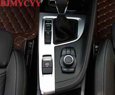 BJMYCYY Car Accessories Interior Decorative ABS Gear Shift Panel Cover Trim Frame for BM ...