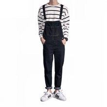 2019 New Mens Distressed Jeans Ripped Jumpsuit Denim Overalls Men Cargo Pants with Suspenders Denim Bib Overalls For Men цены онлайн