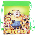 Minion bags Children School Bags For Girls Boys Cute Cartoon Kids Drawstring Backpack two side Gifts Back To School BB0056