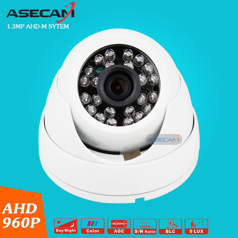 New Product home AHD 960P CCTV Camera Indoor Plastic Small Dome 24LED Infrared Night Vision Security Surveillance ahdm System new home 2mp hd ahd 1080p camera security cctv white dome 2pcs array infrared night vision surveillance camera ahd h system