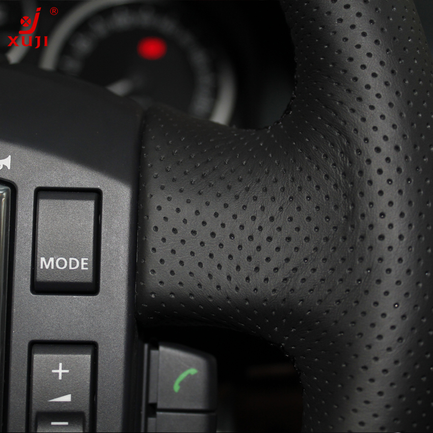CFHMLK Coprivolante per auto in pelle nera per Land Rover Range Rover 2003-2012-filo nero