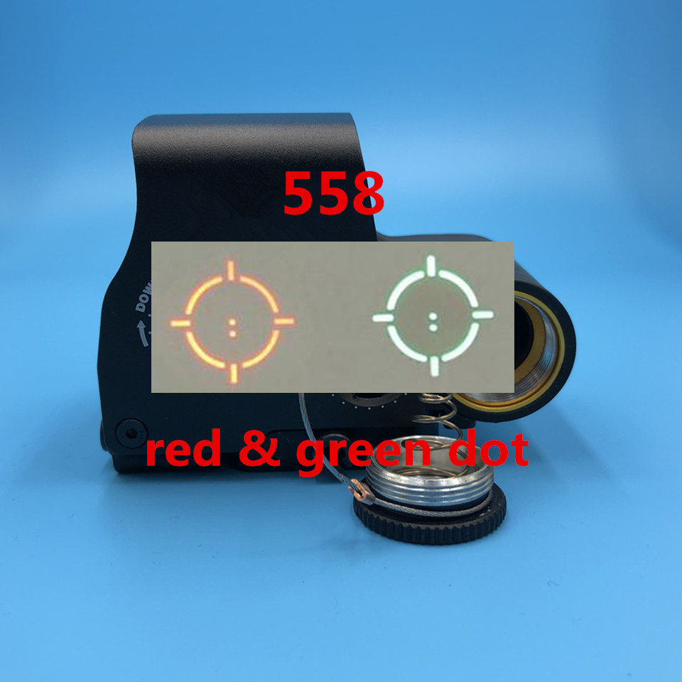 Tactical 558 Collimator Holographic Sight Red Dot Optic Sight Reflex Sight For Shotgun With 20mm Rail Mounts For Airsoft&Hunting