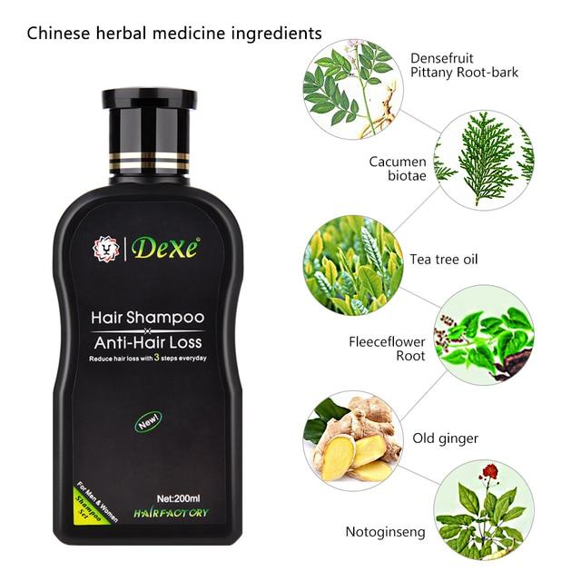 مكافحة فقدان الشعر الشامبو المهنية الصينية العشبية النمو علاج الشعر الشعر منع سميكة منتجات العناية بالشعر للكبار 200 مللي 3