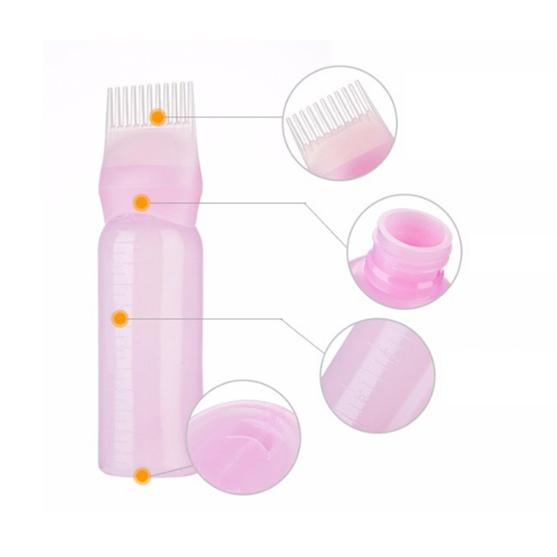 Root Comb Applicator Bottle Hair Dye Bottle With Combs Hair Color Styling Hot Selling