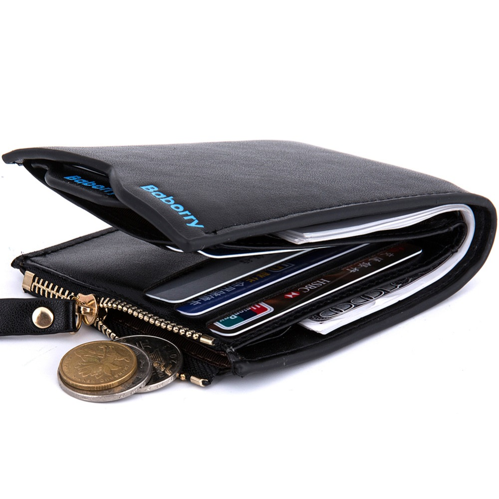 2018 New Fashion Man Wallets Male Purse  Card Holders Small Zipper Wallet New Designed Multi Pockets Purse For Male Purses