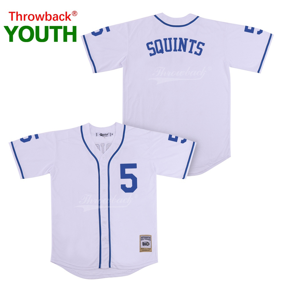 Team Sports Throwback Jersey Youth The Sandlot Movie Baseball Jerseys Squints Jersey Colour White Shirt Stiched Size S-3xl 2019021825 Baseball & Softball