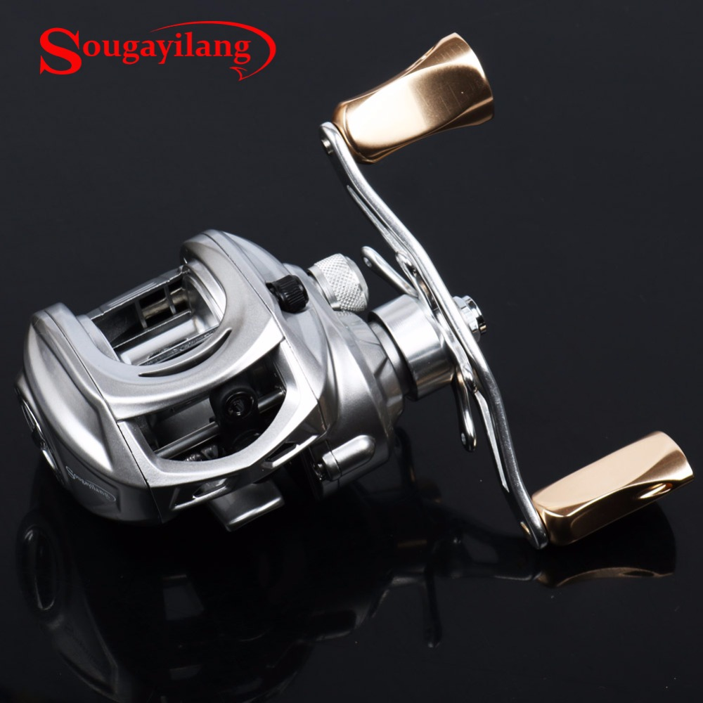 Sougayilang 9+1BB Fishing Reel Left/Right Hand Baitcasting Reel Fresh/SaltWater Carbon Casting Fishing Reel Coil Equipment De 1pcs crystal bowknot hair clips for girls rhinestone decorattion hairpins styling tools barrette braiding accessories hair pins