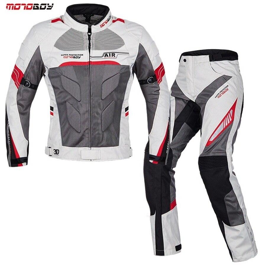 Livraison gratuite 1 set été imperméable veste maille manteau respirant réfléchissant Body Armor Offroad tissu moto veste et pantalon